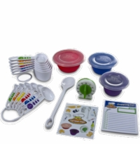 Curious Chef 17 Piece Children's Baking Measuring Prep Set