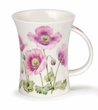Dunoon Mug Pink Poppies Mug (11.1 Oz)