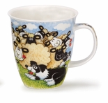 Dunoon Mug Silly Sheep Crowd Group Mug (16.2 Oz)