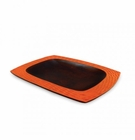 Enrico Mango Wood Platter Tangerine Orange