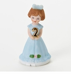 Enesco Growing Up Girls Brunette Age 2 Birthday Girl Figurine