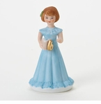 Enesco Growing Up Girls Brunette Age 6 Birthday Girl Figurine