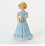 Enesco Growing Up Girls Blonde Age 6 Birthday Girl Figurine