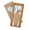 Vietri Albergo Stainless Serving Set (Fork & Spoon)