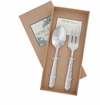 Vietri Martellato Stainless Serving Set (Fork & Spoon)