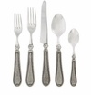 Vietri Classic Pewter Flatware 5 Piece Place Setting