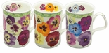 Roy Kirkham Pansy (Lancaster) Mugs - Set of 3