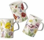 Roy Kirkham English Meadow Set of Three Assorted Mugs