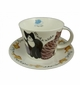 Roy Kirkham Jumbo Breakfast Cup & Saucer Set - Whiskers