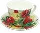 Roy Kirkham Poppy Jumbo Breakfast Cup & Saucer Set