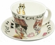Roy Kirkham Animal Fashions Cat Jumbo Cup & Saucer Set
