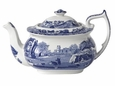 Spode Blue Italian Teapot with Lid