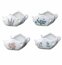 Andrea by Sadek 4 Assorted Tea Bag Holder Caddies