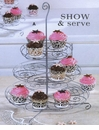 Tag Cupcake Party Three Tier Metal Stand