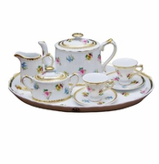 Petite Floral 10 Piece Porcelain Child's Tea Set