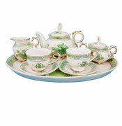 Gracie Green 10 Piece Porcelain Child's Tea Set