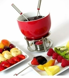 Orka Chocolate Fondue Set - Red