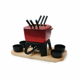 Swissmar Mont Blanc 15 Piece Meat Fondue Set - Red