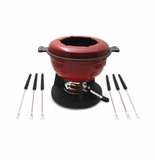 Swissmar Lucerne 10 Piece Meat Fondue Set - Red