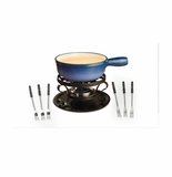 Swissmar Lugano 9 Piece Cheese Fondue Set - Blue