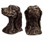 Dachshund Dog Bronzed Iron Bookend Pair