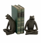 Yoga Frogs Bronze Bookend Pair - Andrea by Sadek