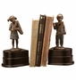 SPI Bronzed Brass Girl and Boy A to Z Bookends