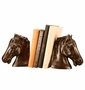 SPI Bronzed Brass Horsehead Bookends