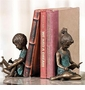 SPI Brass Boy and Girl Bookends