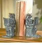SPI Cast Iron Reading Frog Bookends