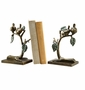 SPI Home Aluminum Bird Leaf and Branch Bookends