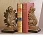 Dessau Home Acanthus Bookends Iron Gold/Bronze Finish