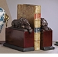 Dessau Home Sleeping Lion Bookends Bronze Iron & Resin Base