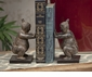 Dessau Home Stone Bronze Sumo Wrestler Bookend Pair