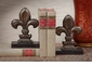 Dessau Home Bronze Iron Fleur De Lis Bookends