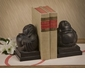 Dessau Home Bronze Buddha Bookend Pair