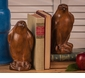 Dessau Home Wood Finish Eagle Bookends