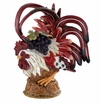 J. Willfred Ceramics Crouching Rooster with Grapes