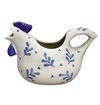 Andrea by Sadek Blue Leaf Rooster Pitcher