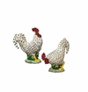 Andrea by Sadek Black/Cream Rooster Salt & Pepper Set