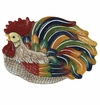 Andrea by Sadek Multi Color Rooster Platter