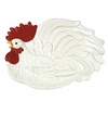 Andrea by Sadek Red and Cream Rooster Platter