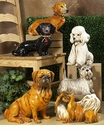 Intrada Italy Brown Patinato Dachshund Dog Statue
