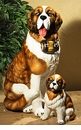 Intrada Italy Small Saint Bernard Dog Statue