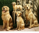 Intrada Italy Golden Retriever Dog Statue
