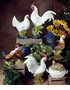 Intrada Italy Campagna Rooster & Hen Salt & Pepper with Tray