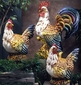 "Intrada Italy Campagna 30"" Giant Colored Rooster Statue"