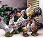 "Intrada Italy Campagna Colored Platinum 16"" Rooster Statue"