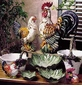 "Intrada Italy Campagna Verde 22"" Colored Rooster Statue"