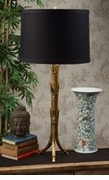 Dessau Home Antique Gold Bamboo Tripod Lamp